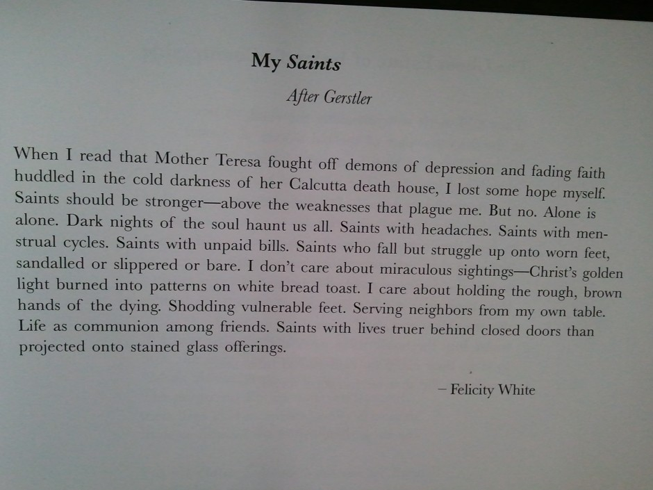 Phone photos of my published poem for How to get my photographs published